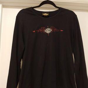 Ladies HARLEY DAVIDSON cotton shirt xl